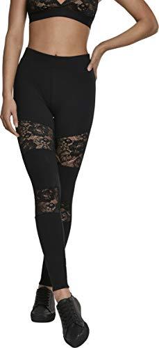 Urban Classics Damen Ladies Laces Inset Leggings, Schwarz (Black 00007), S - 1